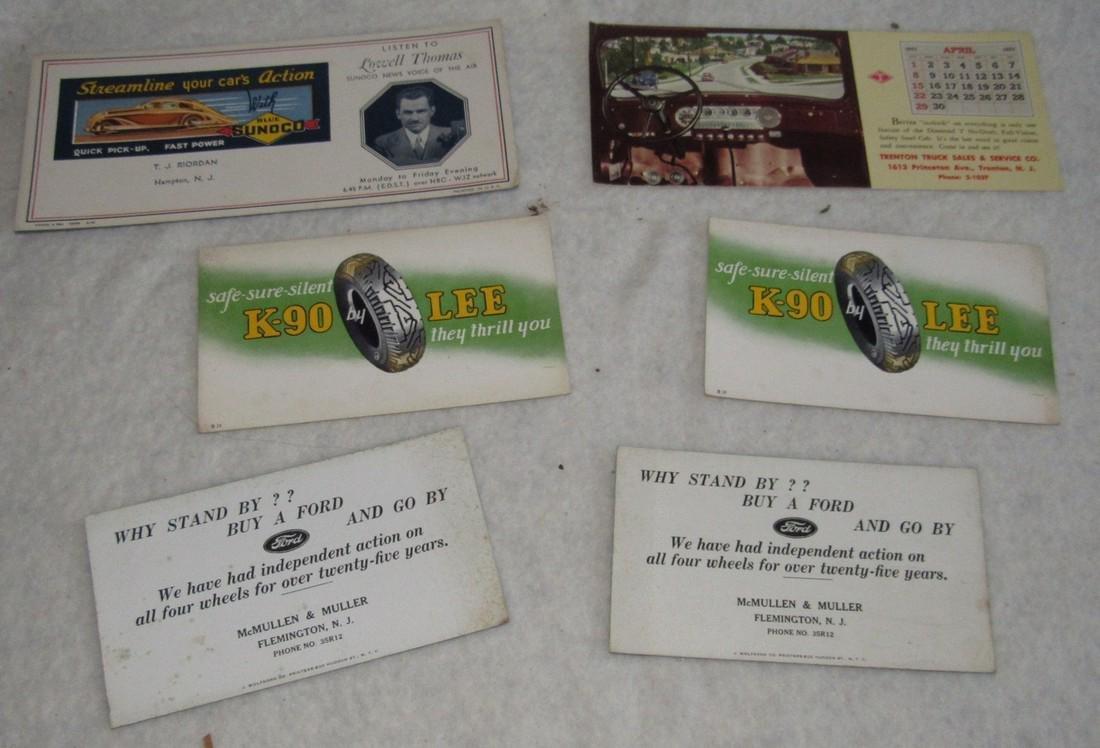 Sunoco Hampton NJ Trenton Truck Blotter Cards