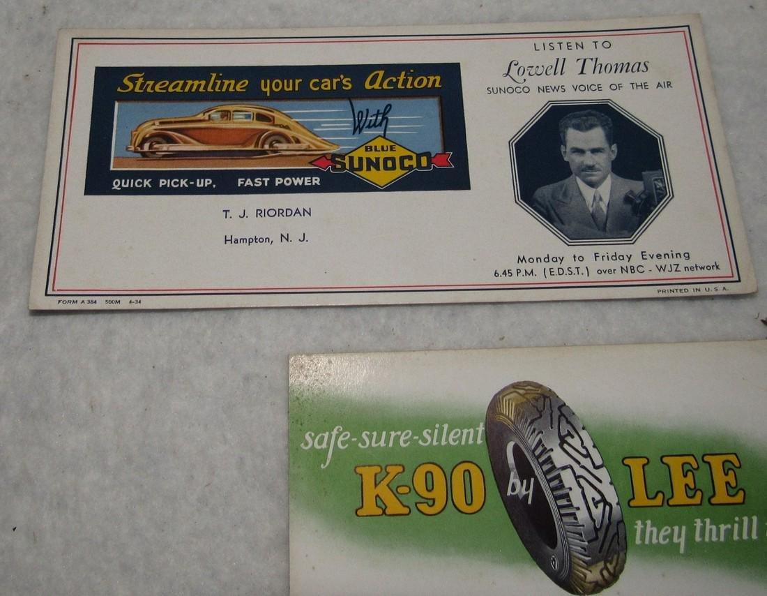 Sunoco Hampton NJ Trenton Truck Blotter Cards - 2