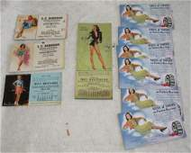 Local Pin Up Girl Ink Blotter Cards Easton Pa