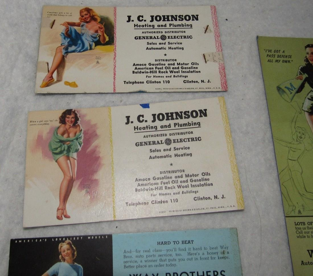 Local Pin Up Girl Ink Blotter Cards Easton Pa - 2
