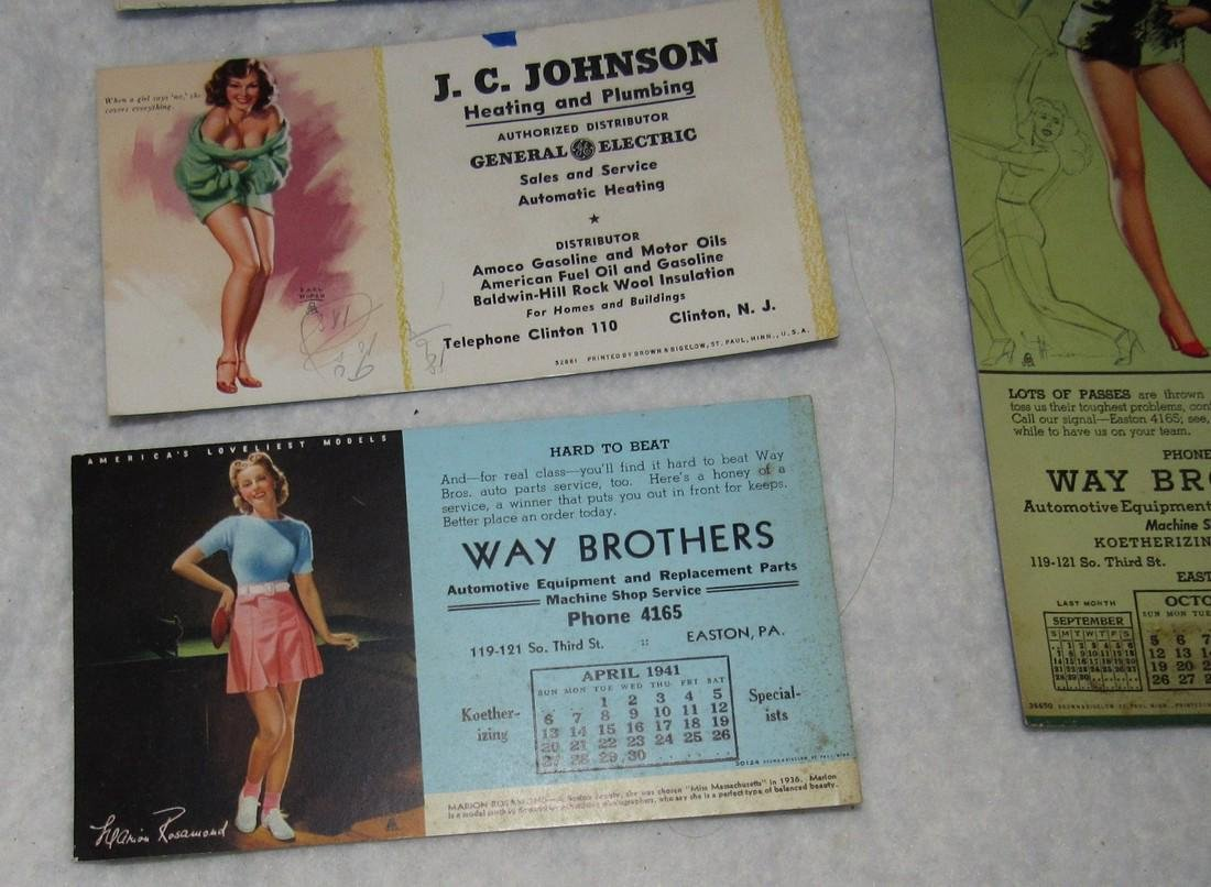 Local Pin Up Girl Ink Blotter Cards Easton Pa - 3