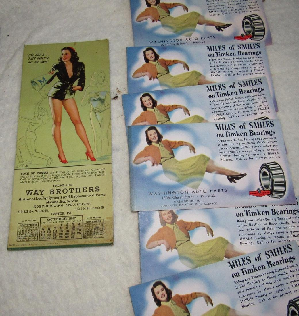 Local Pin Up Girl Ink Blotter Cards Easton Pa - 4