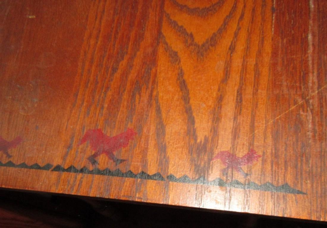 Oak Childs Table w/ Animal Stencils - 4