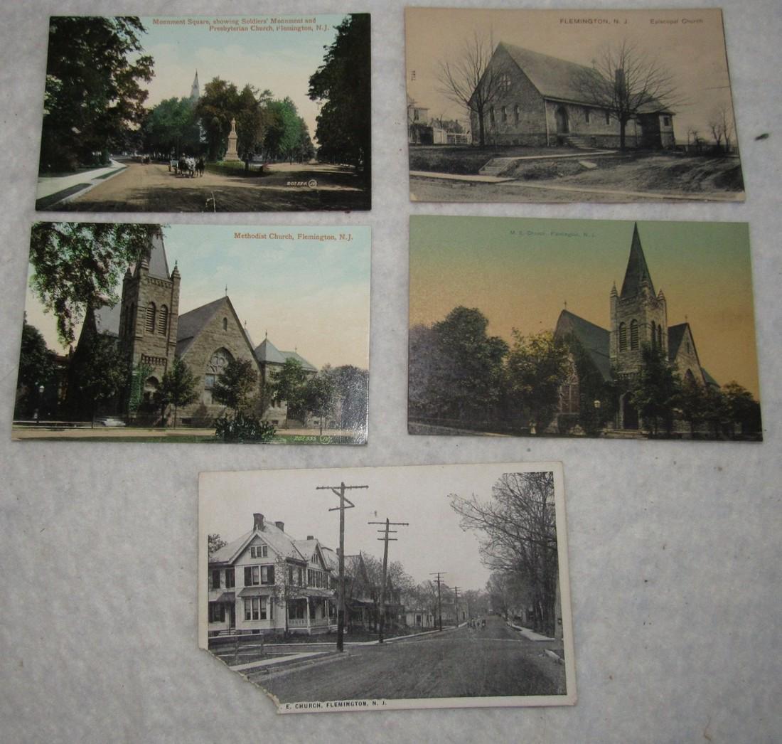 5 Flemington NJ Postcards
