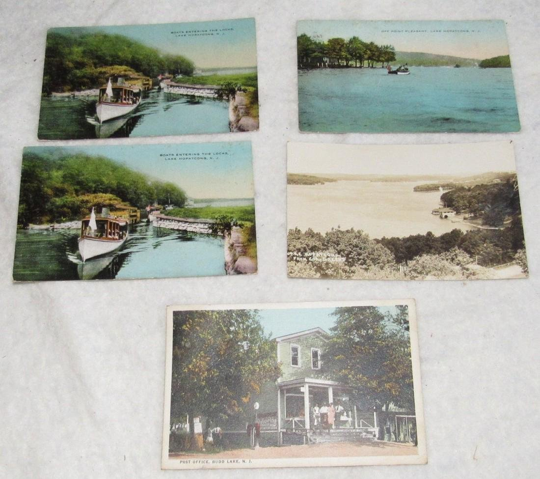 Lake Hopatcong & Budd Lake NJ Postcards