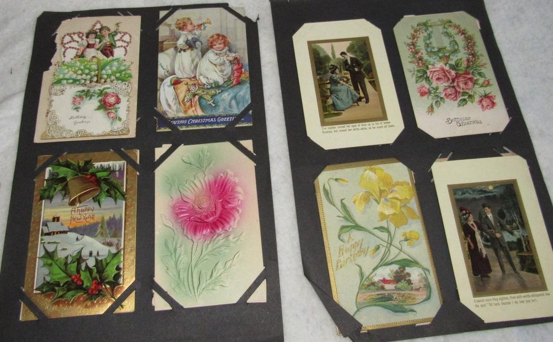 75 Christmas Easter Holiday Antique Post Cards - 2