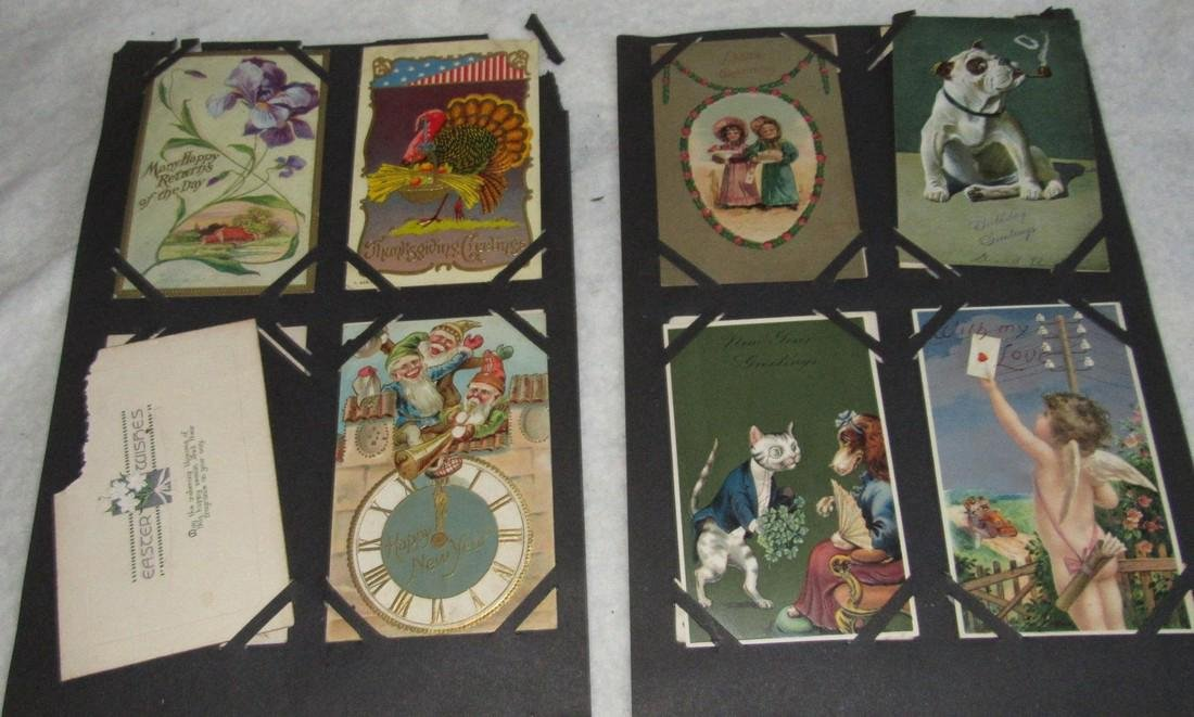 75 Christmas Easter Holiday Antique Post Cards - 3