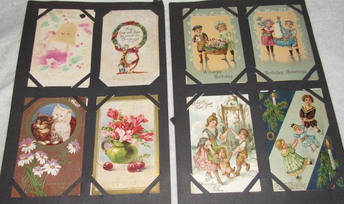 75 Christmas Easter Holiday Antique Post Cards - 5