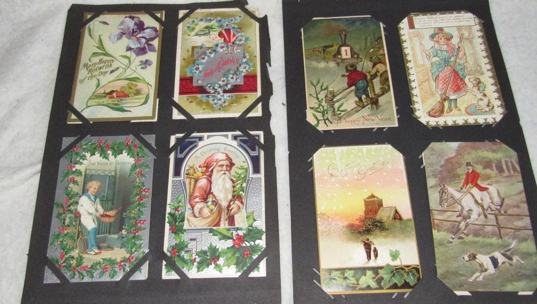 75 Christmas Easter Holiday Antique Post Cards - 7