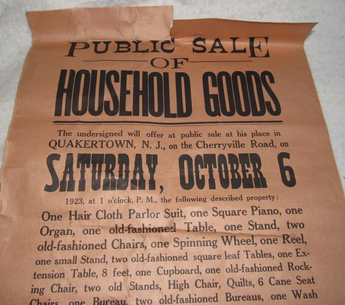 Quakertown NJ Auction Broad Broadside  Poster - 2