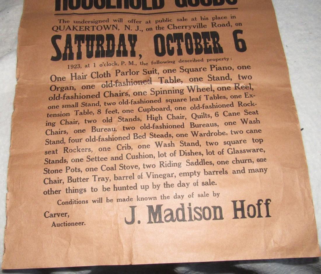 Quakertown NJ Auction Broad Broadside  Poster - 3