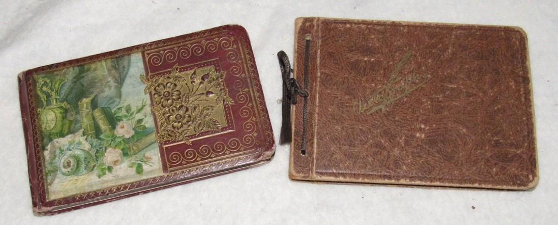 2 Antique Memo Autograph Books