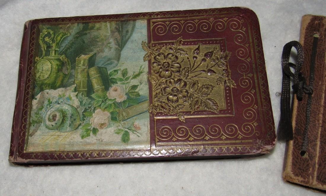 2 Antique Memo Autograph Books - 2