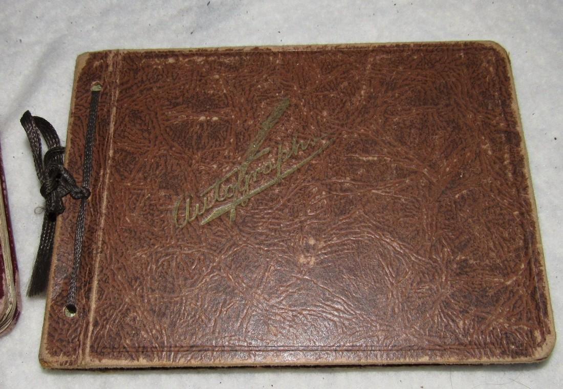 2 Antique Memo Autograph Books - 3