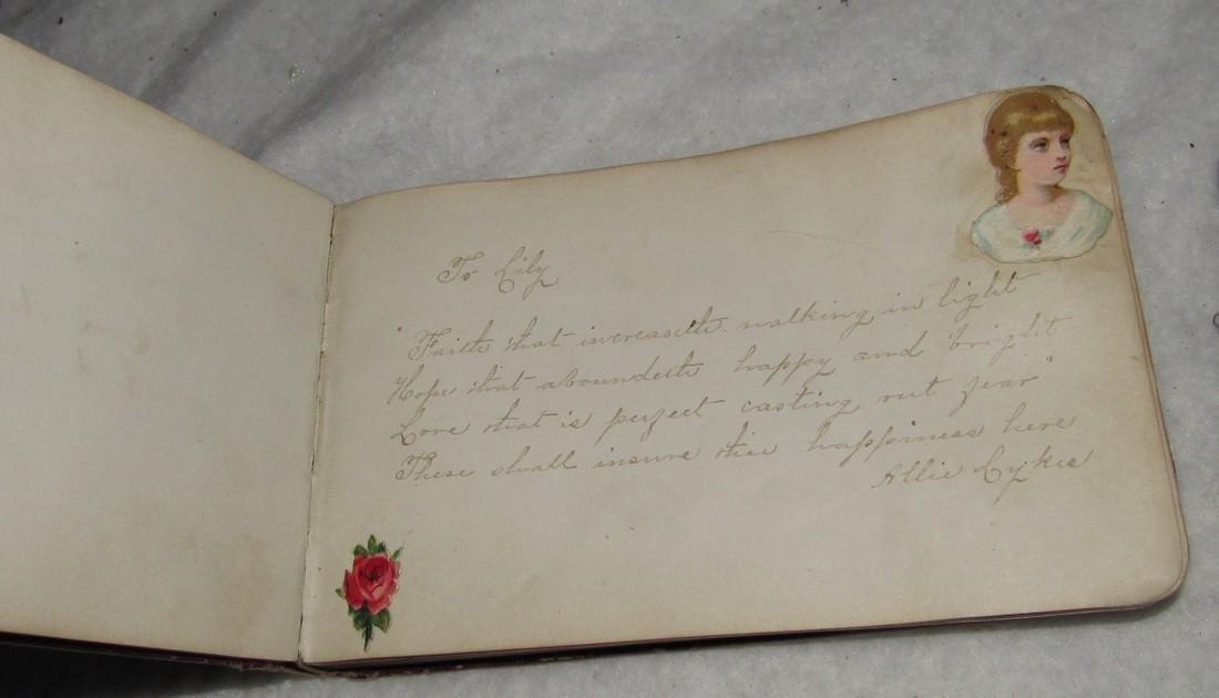 2 Antique Memo Autograph Books - 4