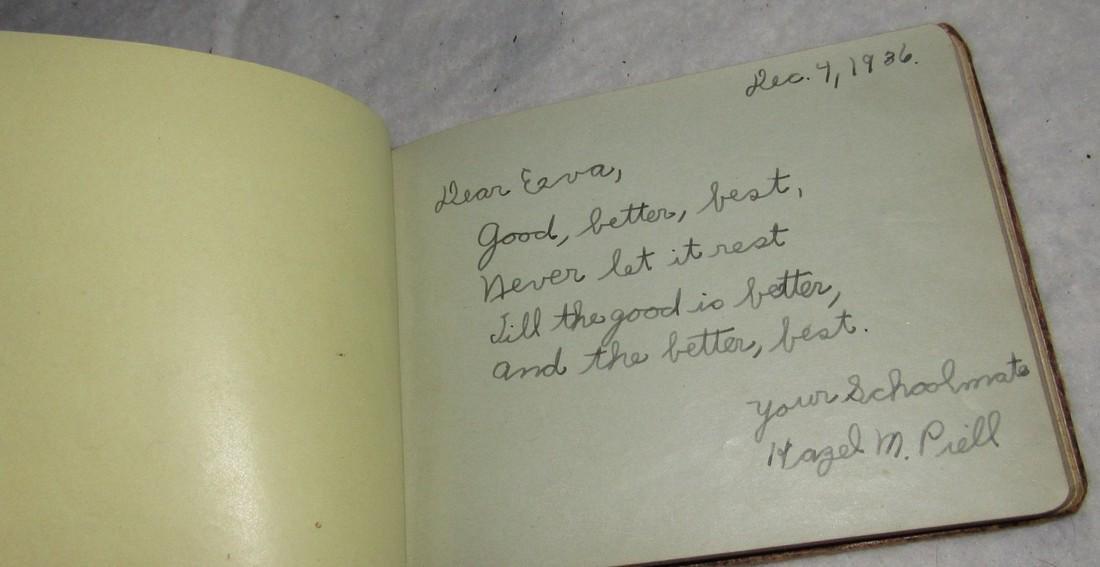 2 Antique Memo Autograph Books - 5