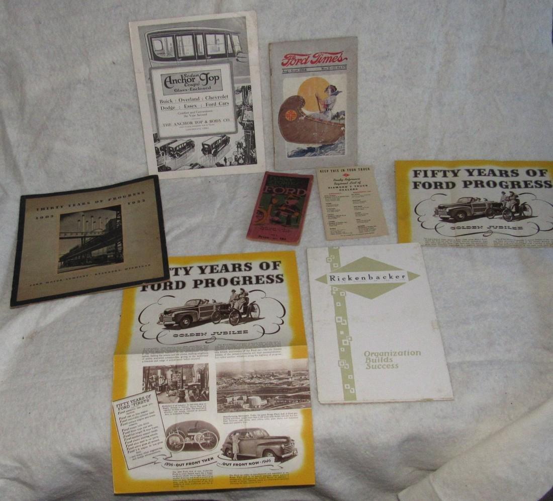 Ford Brochures Catalogs Book Literature Lot