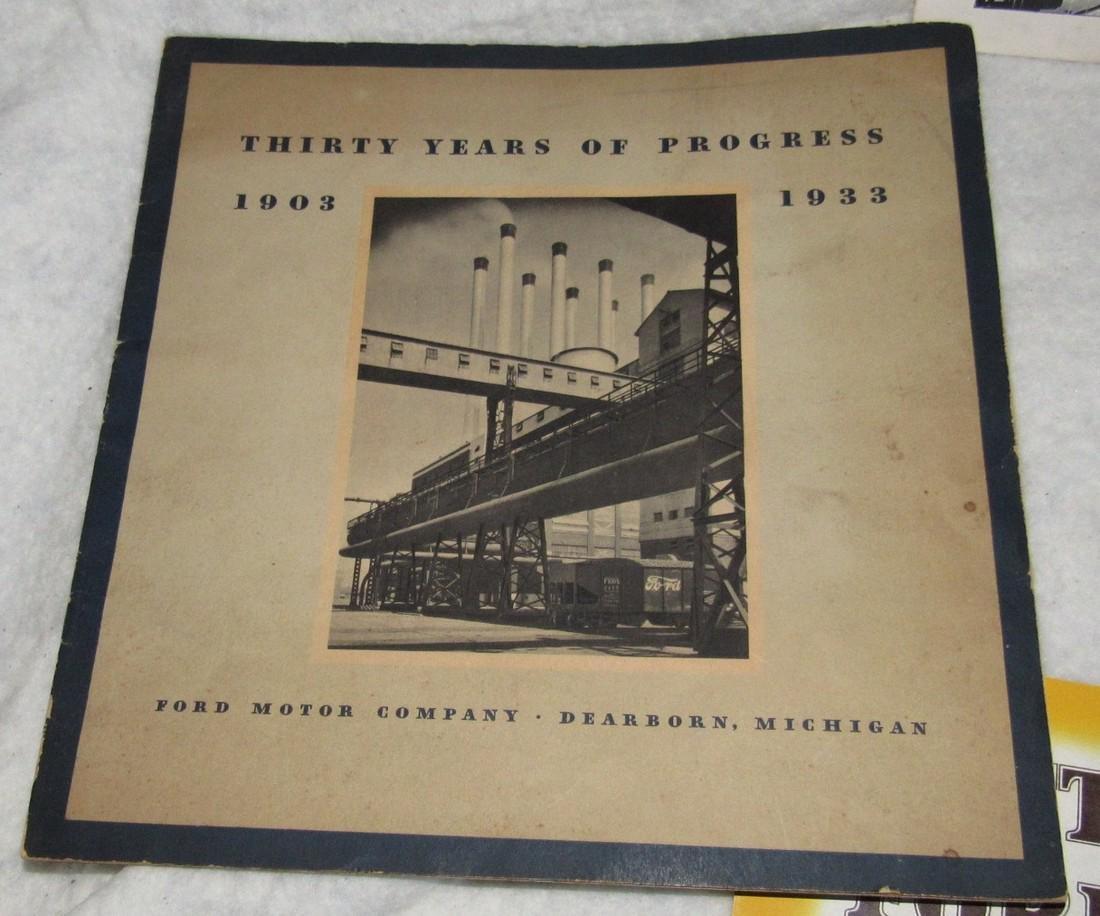 Ford Brochures Catalogs Book Literature Lot - 2