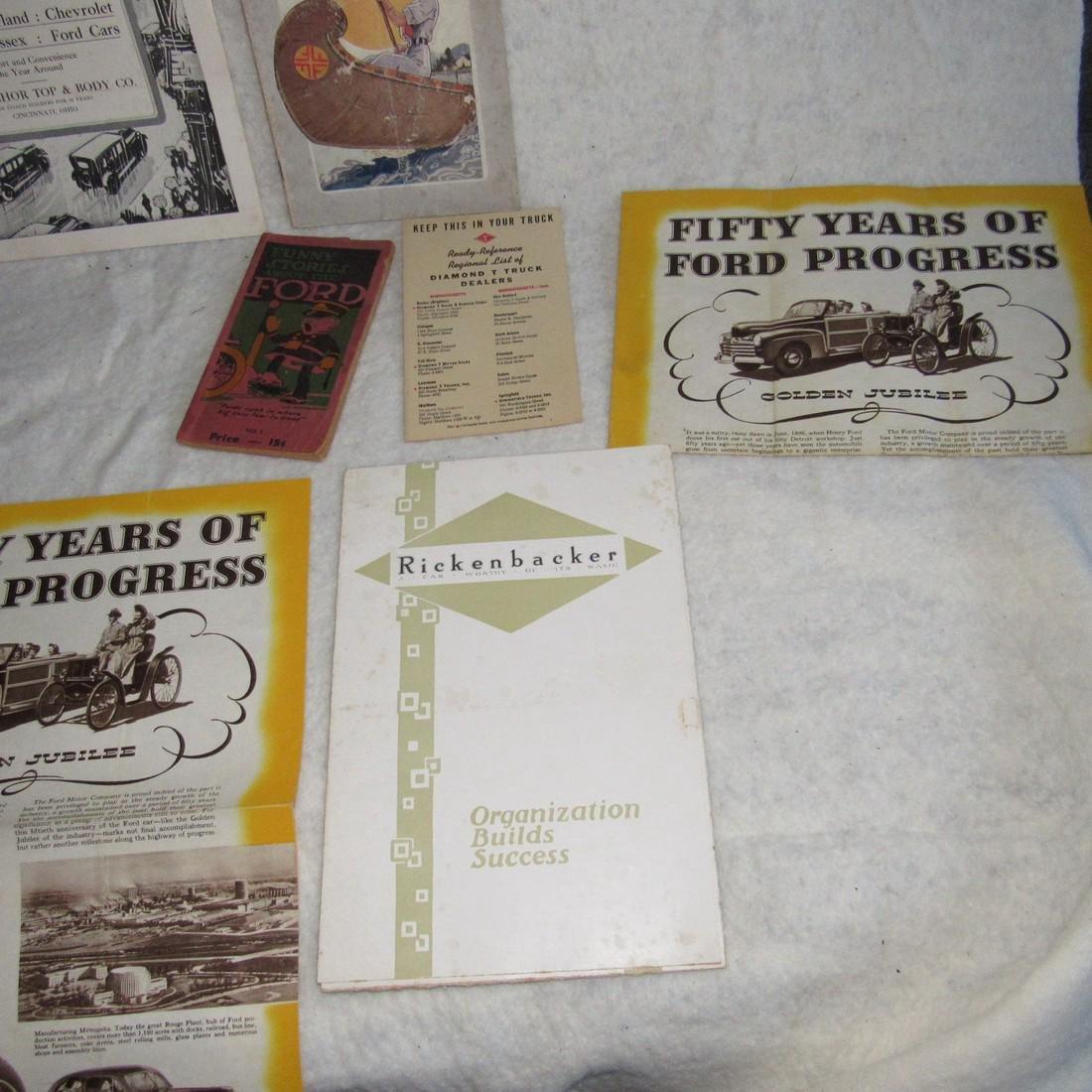 Ford Brochures Catalogs Book Literature Lot - 4