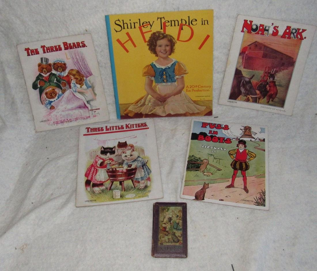 Shirley Temple & Linette Book Lot