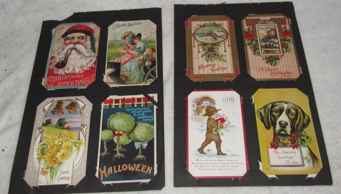 61 Christmas Halloween Holiday Postcards - 7