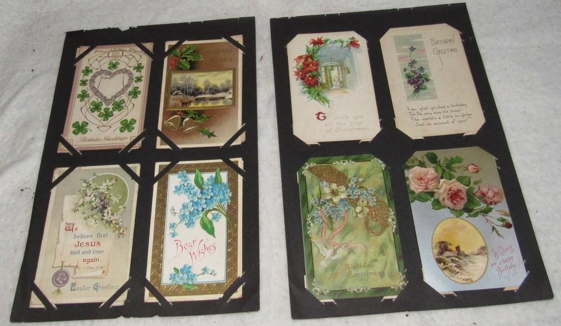 75 Antique Christmas Halloween Postcards - 7