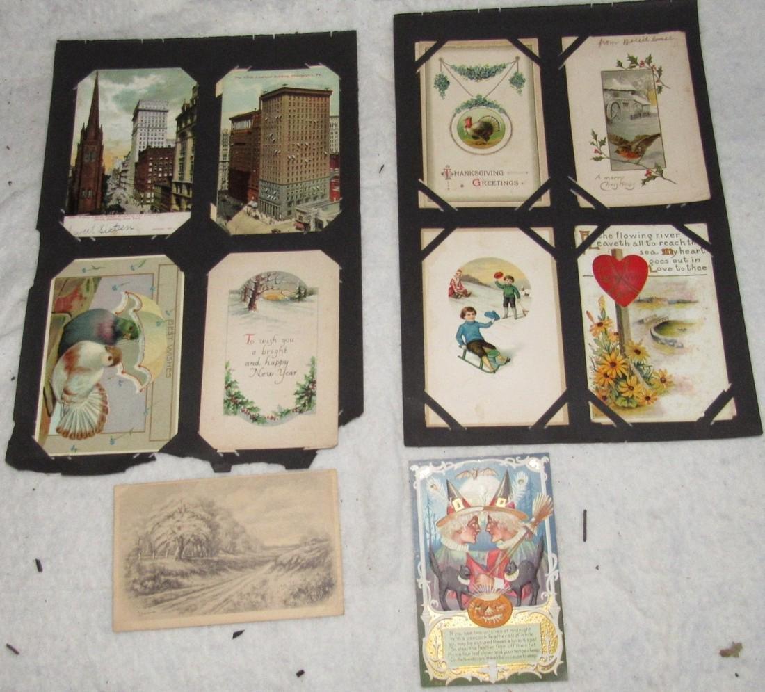 75 Antique Christmas Halloween Postcards - 9