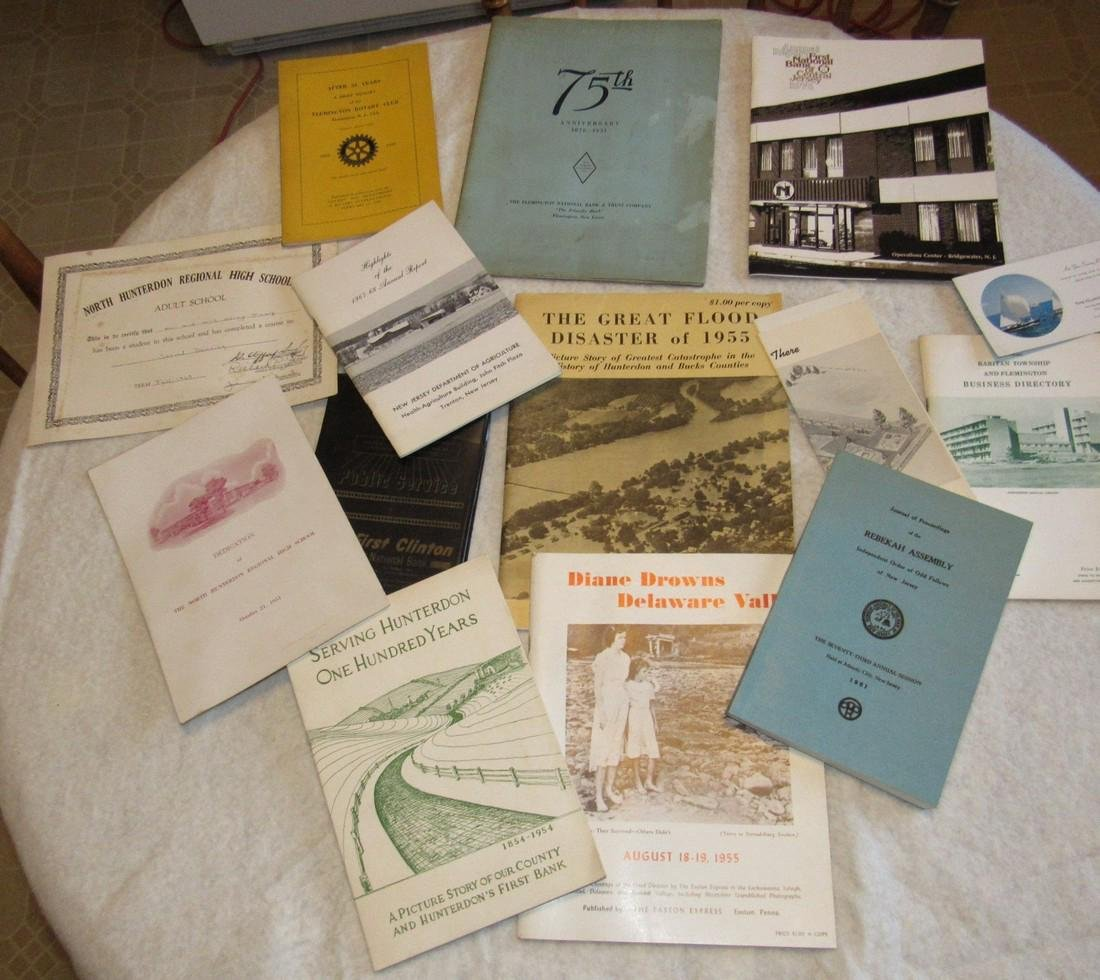 Local Books Catalogs Programs Certificate Lot
