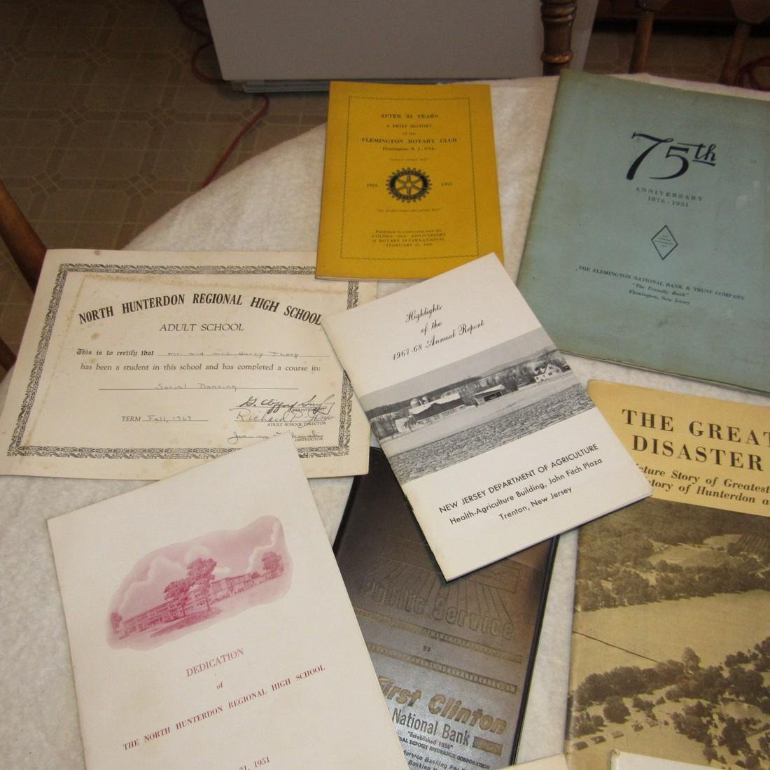 Local Books Catalogs Programs Certificate Lot - 2