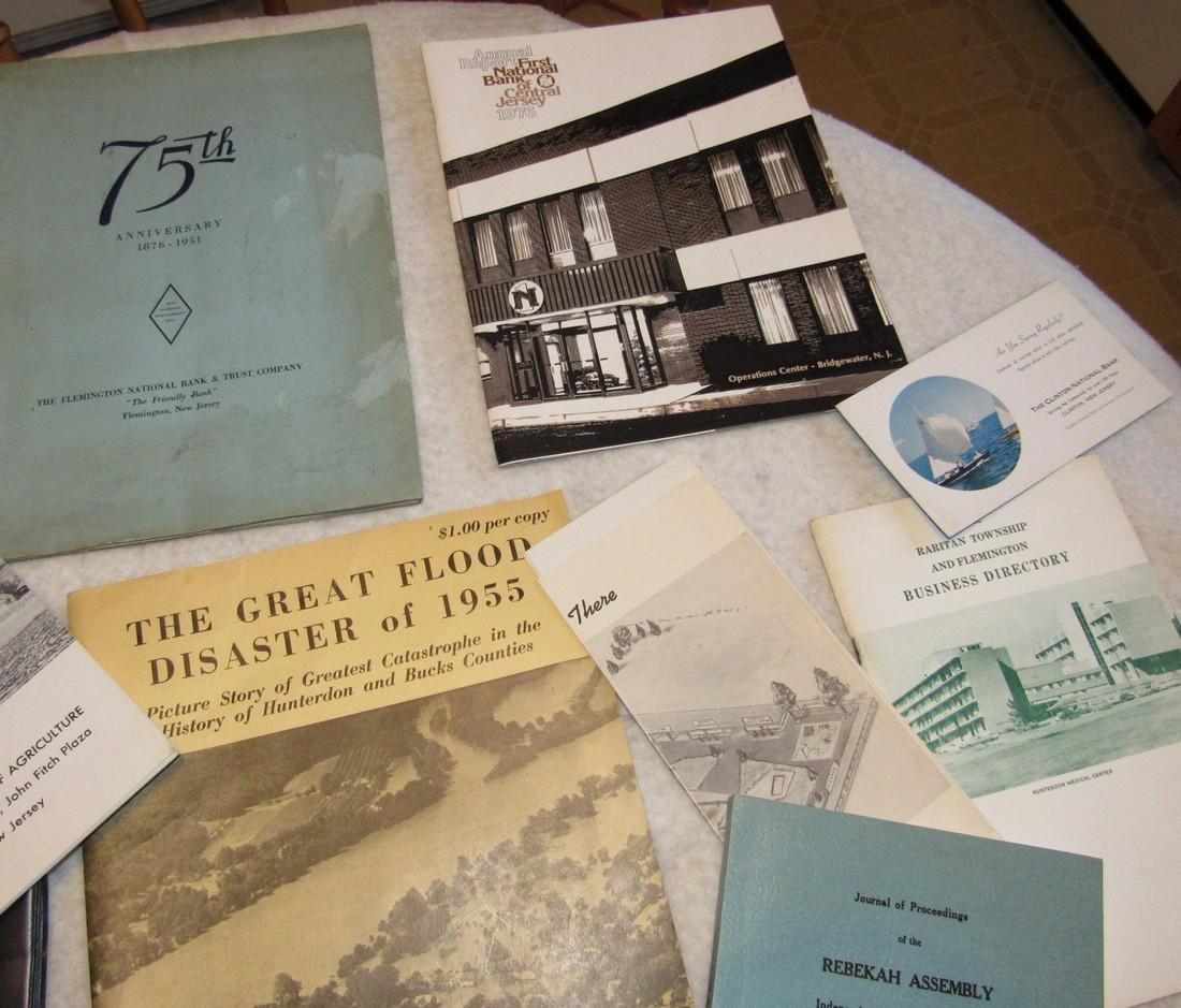 Local Books Catalogs Programs Certificate Lot - 3