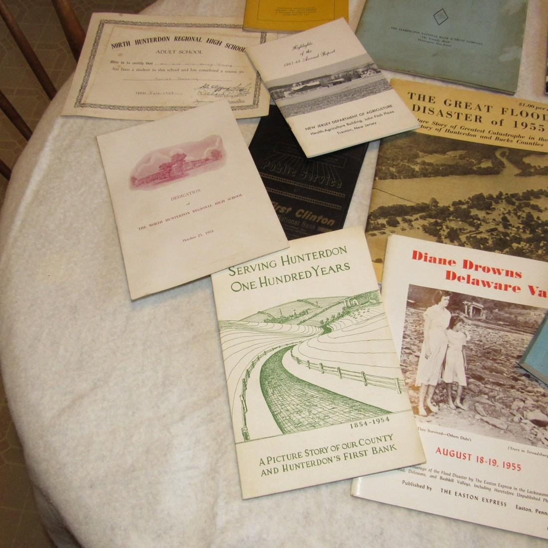 Local Books Catalogs Programs Certificate Lot - 5