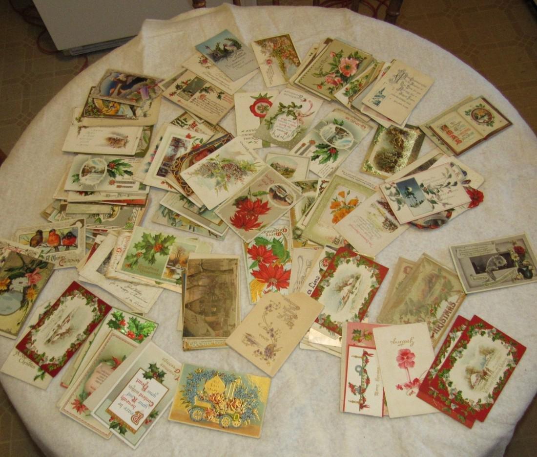 Large Lot of Christmas Postcards