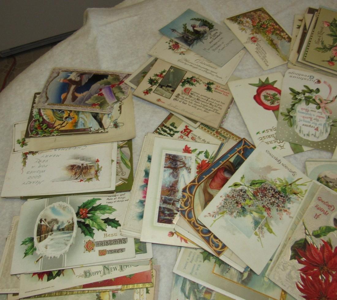 Large Lot of Christmas Postcards - 2