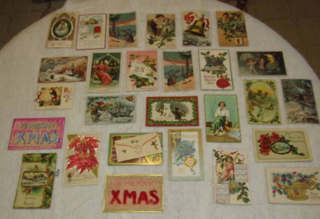 27 Antique Christmas Postcards