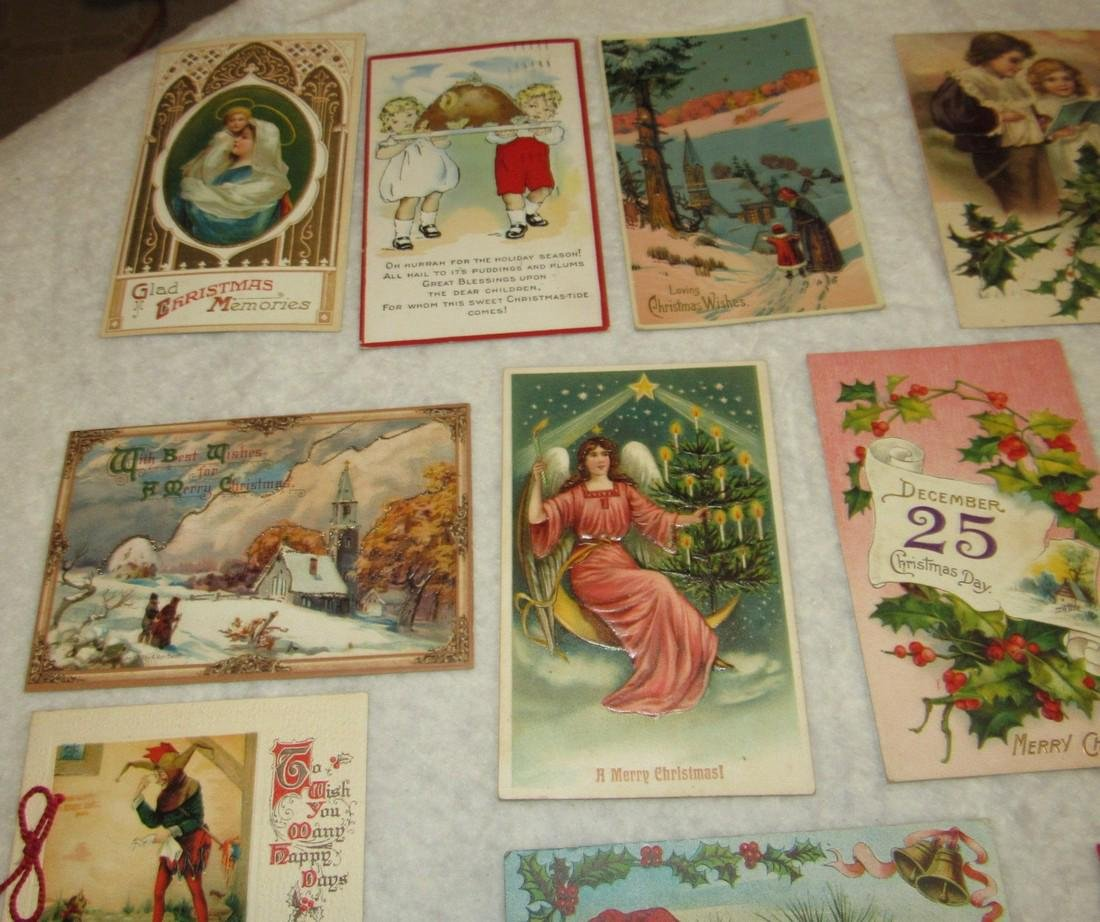 27 Antique Christmas Postcards - 2