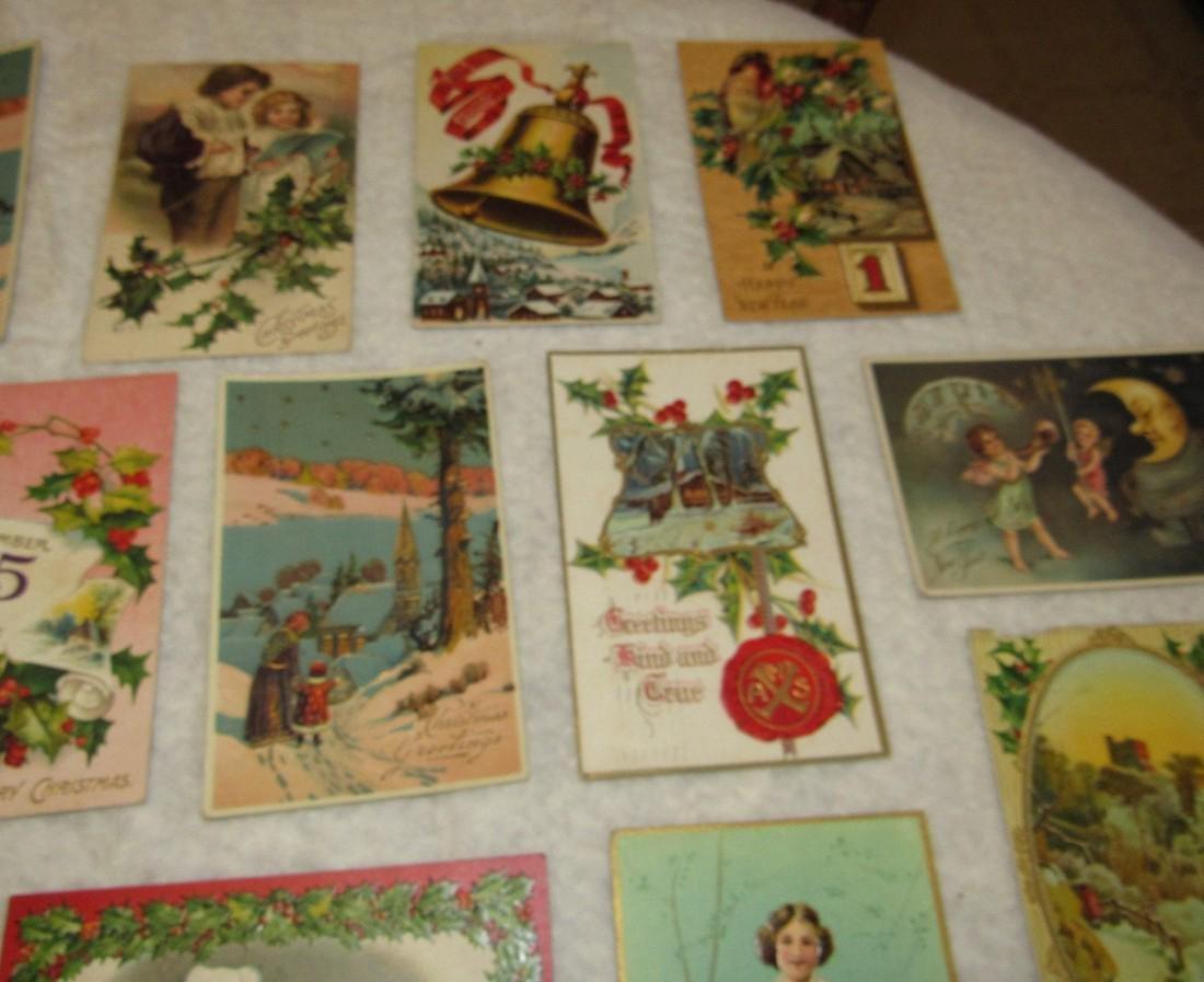 27 Antique Christmas Postcards - 3