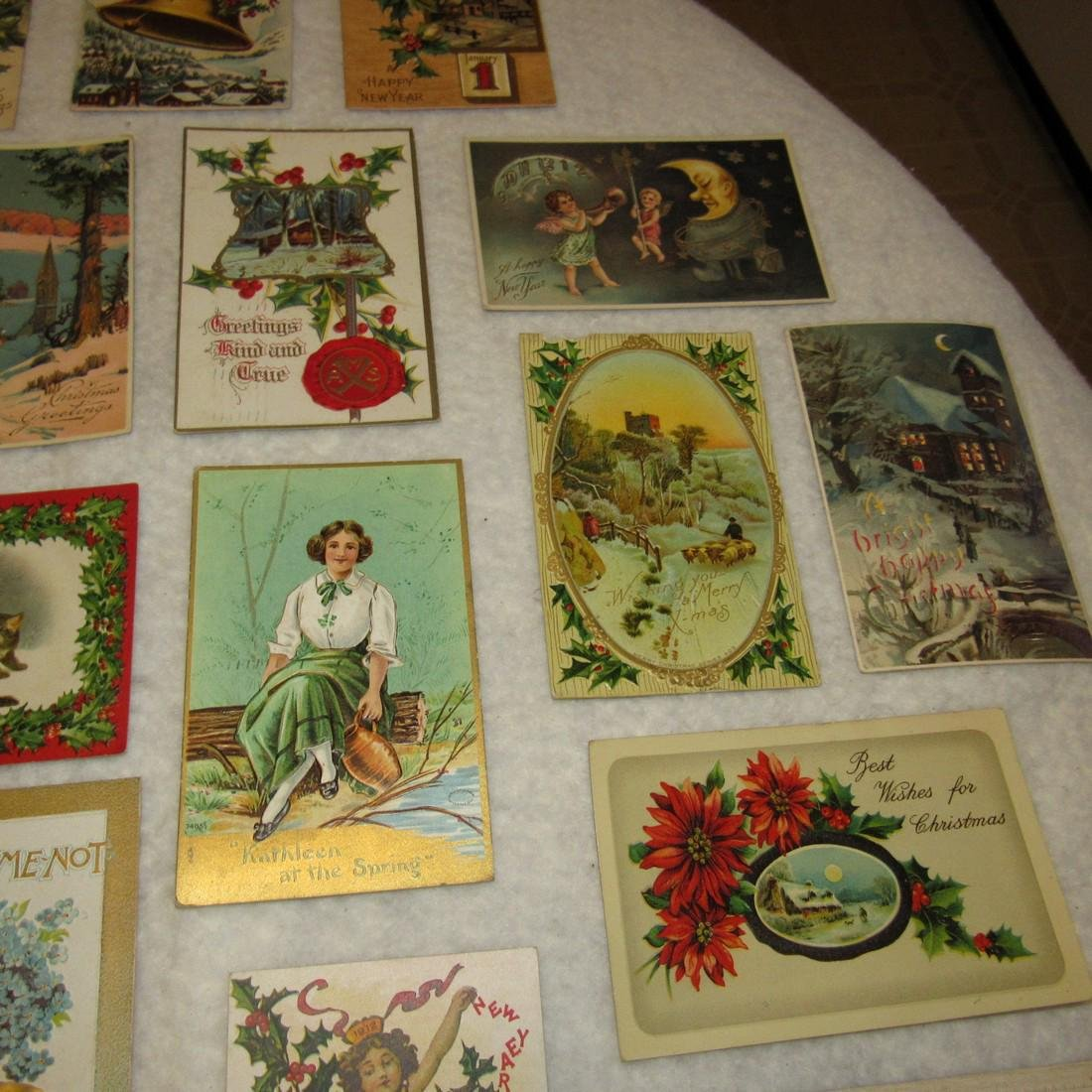 27 Antique Christmas Postcards - 4