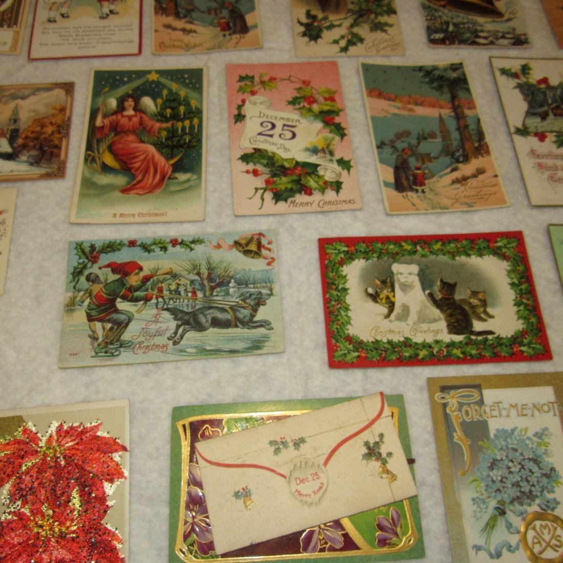 27 Antique Christmas Postcards - 5