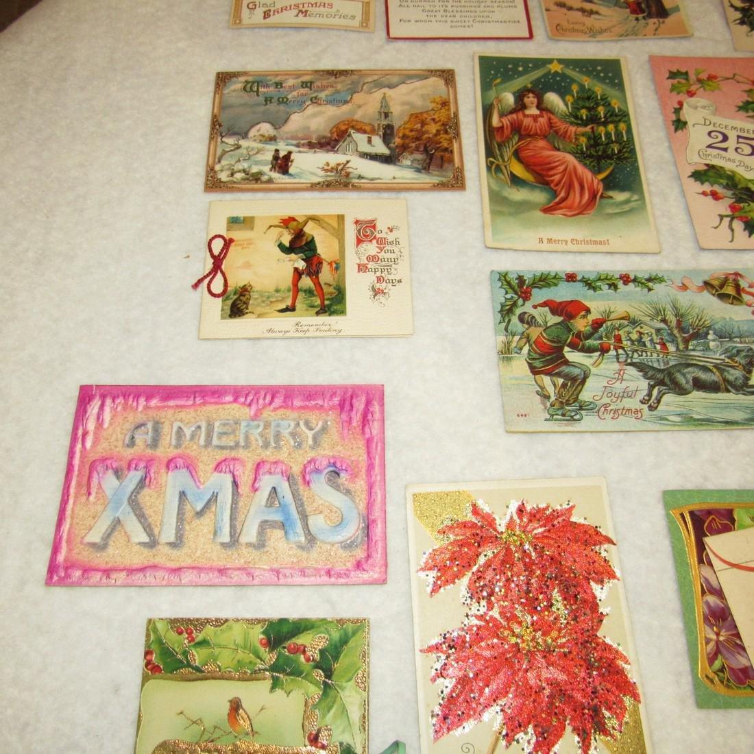 27 Antique Christmas Postcards - 6
