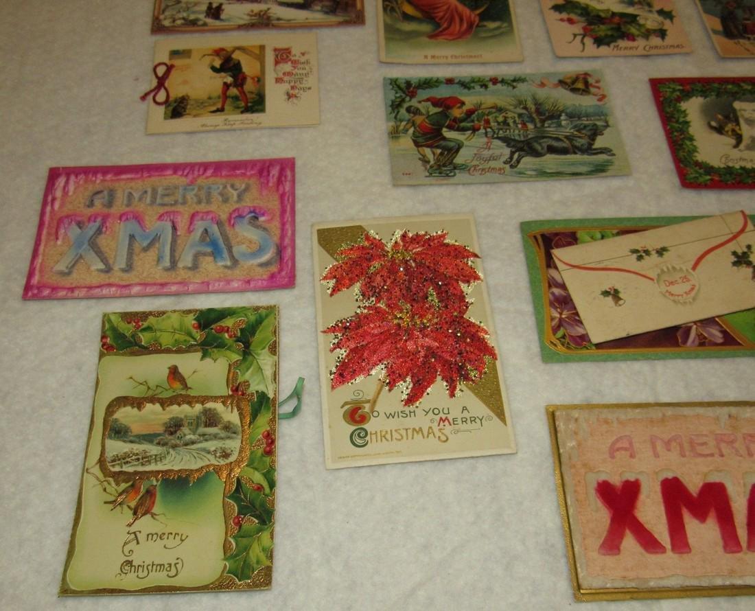 27 Antique Christmas Postcards - 7