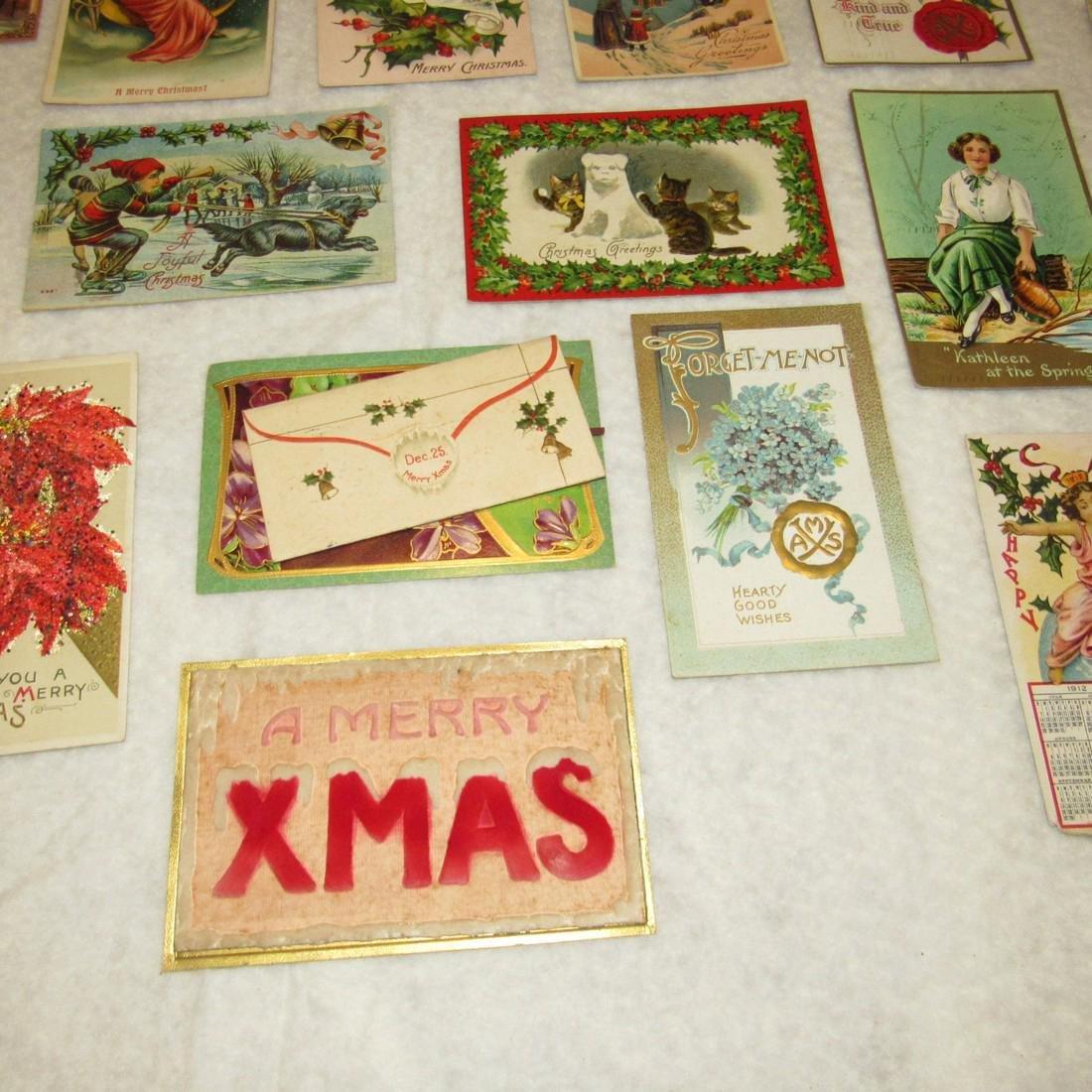 27 Antique Christmas Postcards - 8