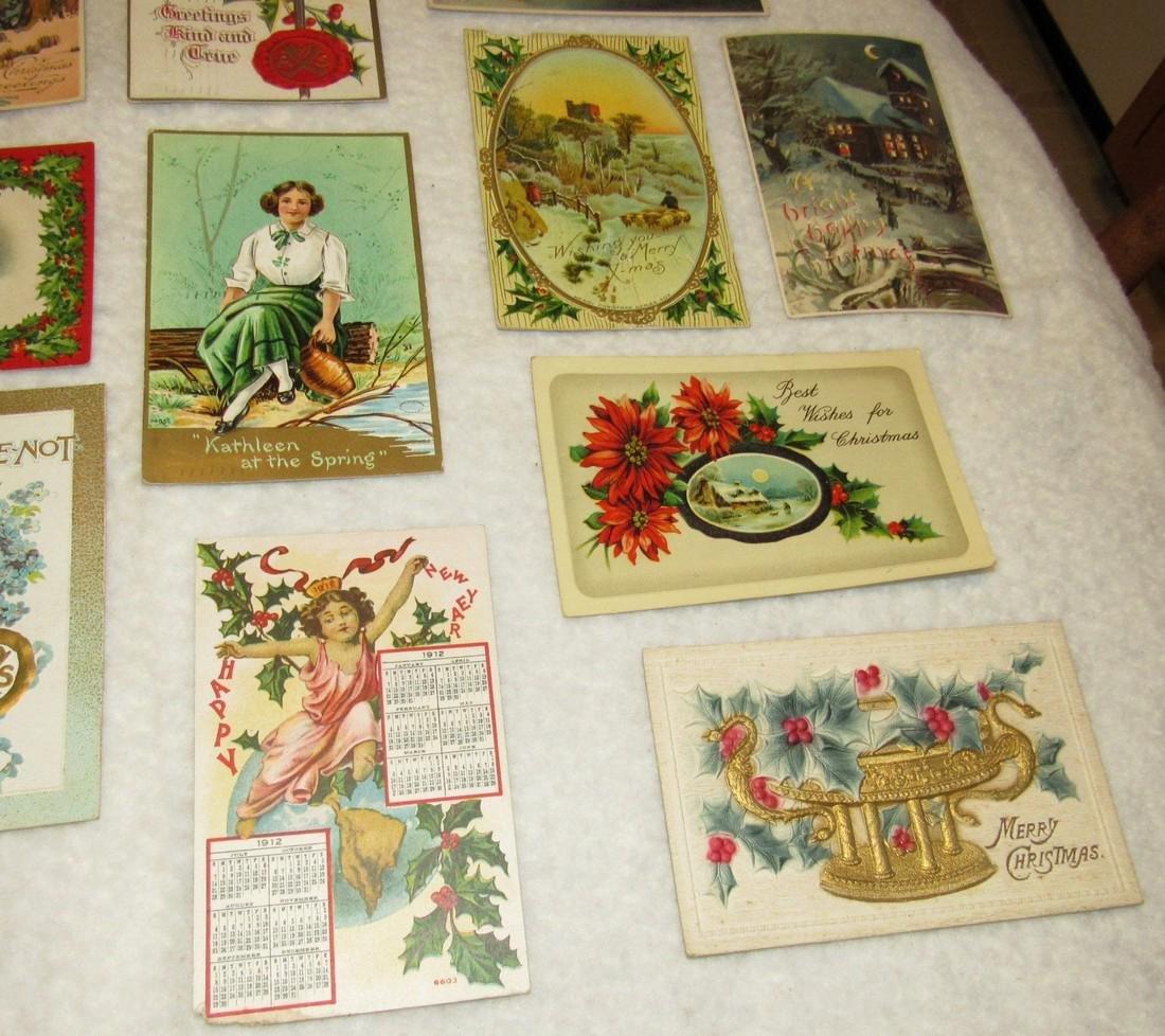 27 Antique Christmas Postcards - 9