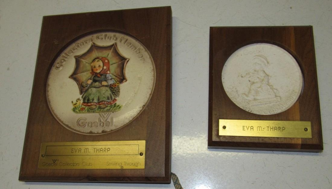 Goebel Collector Club Plaques