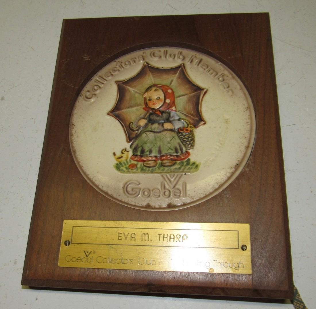 Goebel Collector Club Plaques - 2