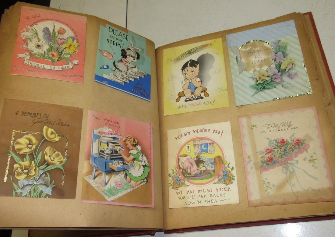 Scrap Book Filled with Cards - 3