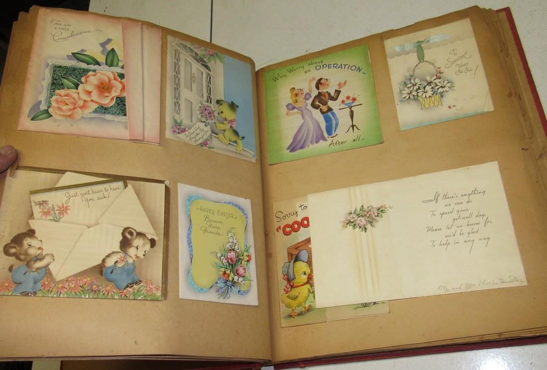 Scrap Book Filled with Cards - 4