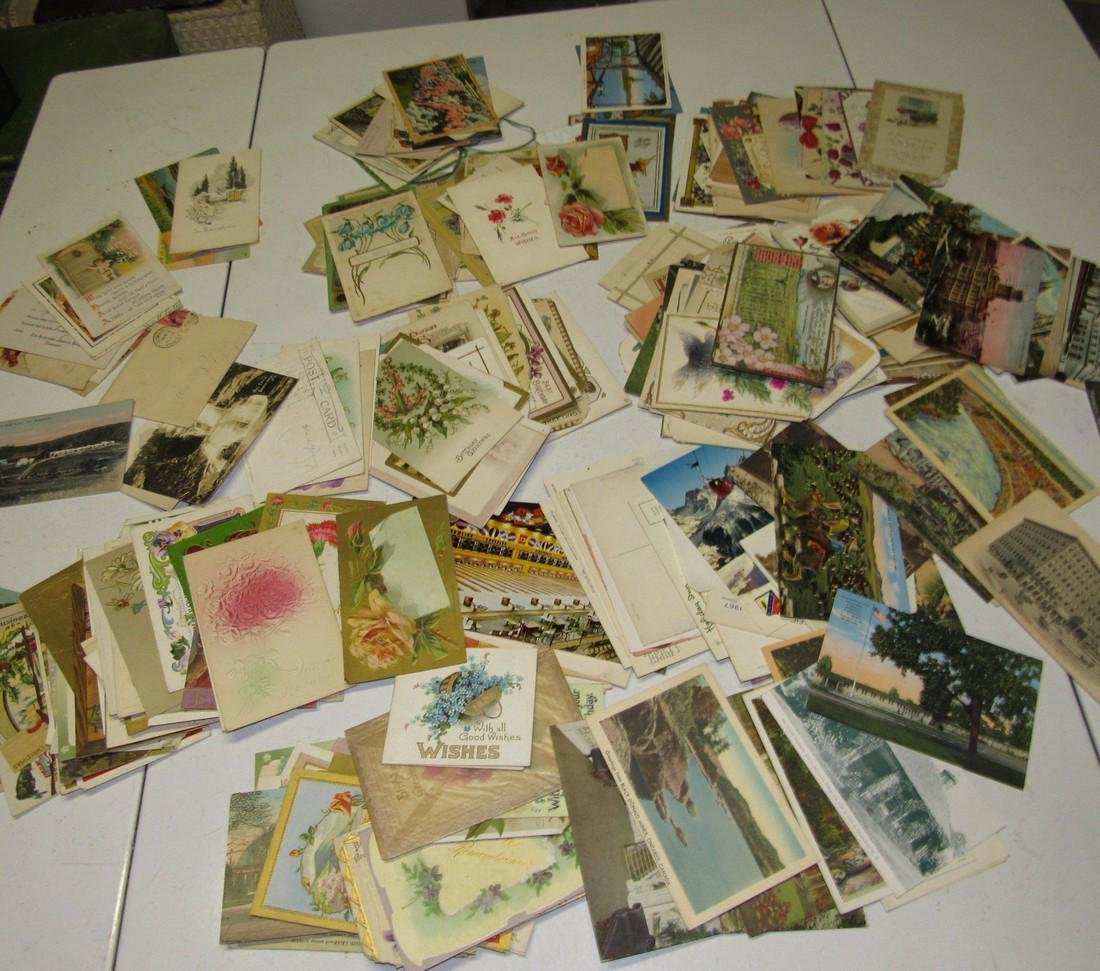 Large Lot of Antique Post Cards