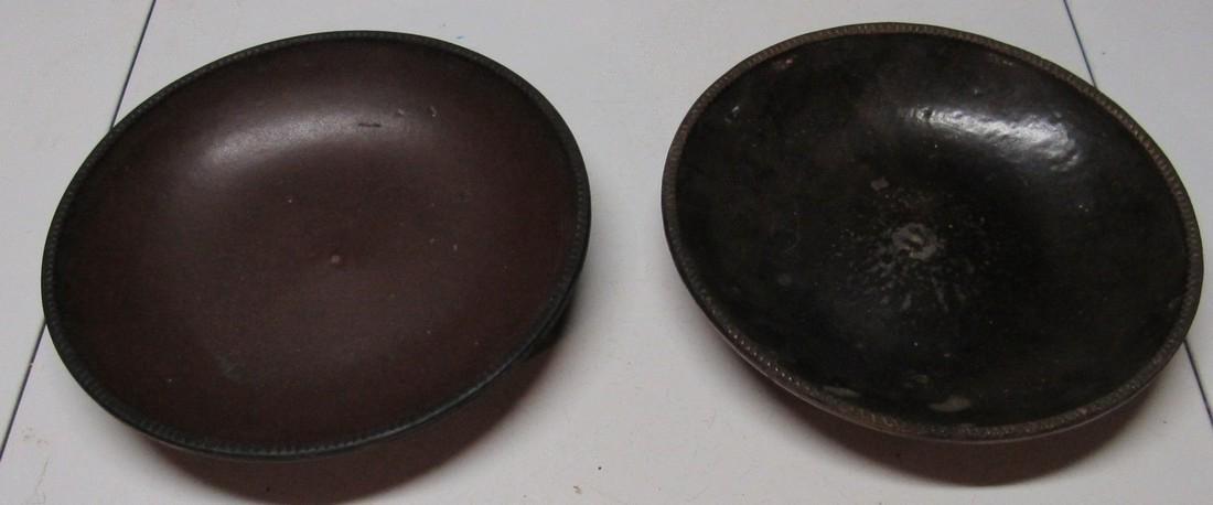 "2 Antique 11"" Pie Plate Push Up Bottom"