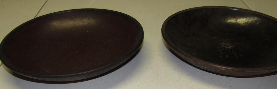 "2 Antique 11"" Pie Plate Push Up Bottom - 4"