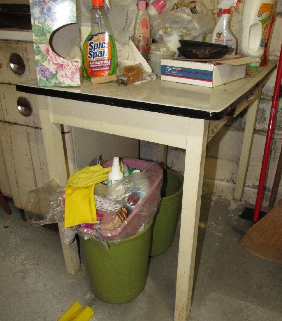 Porcelain Top One Drawer Table